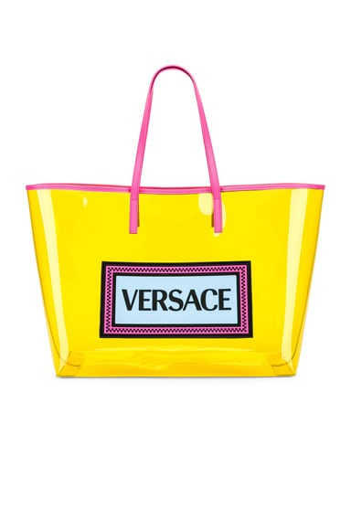 Clear Vinyl Logo Tote