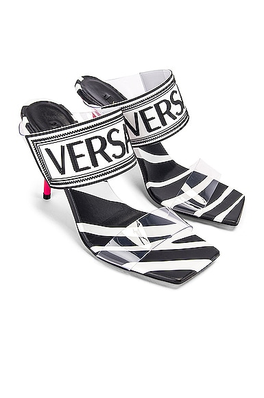 Logo Clear Heel Sandals