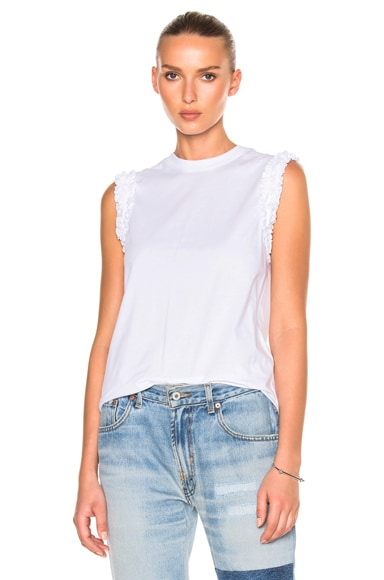 Ruffle Sleeveless Tee Shirt