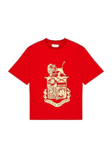 Wales Bonner Cottons JOHNSON CREST TEE