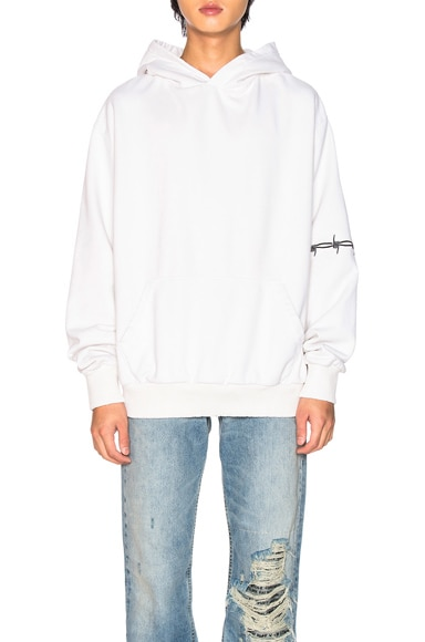 Washed Oversized Bomber-Fit Hoodie