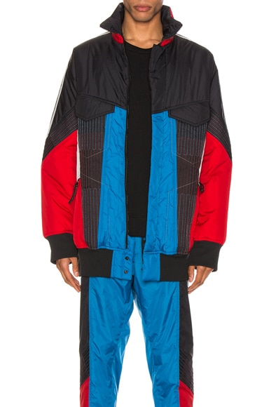 Color Block Shell Padded Track Jacket