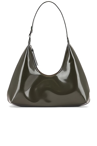 Amber Semi Patent Leather Shoulder Bag