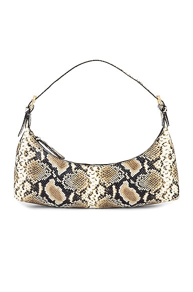 Mara Snake Print Leather Bag