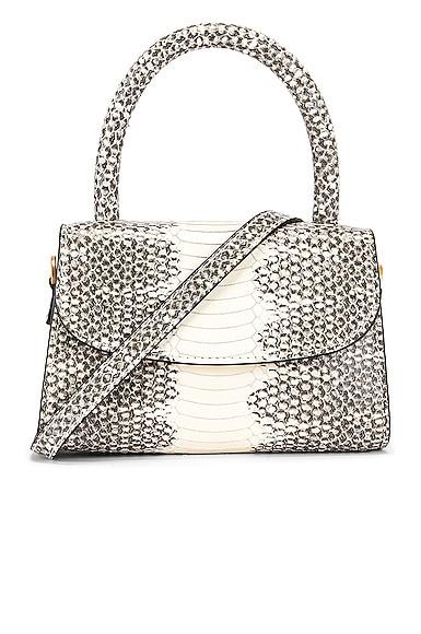 Mini Snake Print Leather Bag