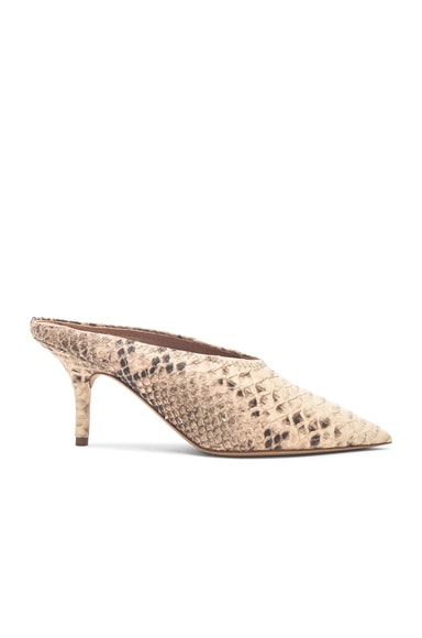 Season 6 Faux Python Embossed Leather Mule Pumps