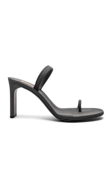 Season 7 Rubberized Leather Minimal Sandals