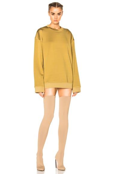 Plaited Jersey Crewneck Sweatshirt
