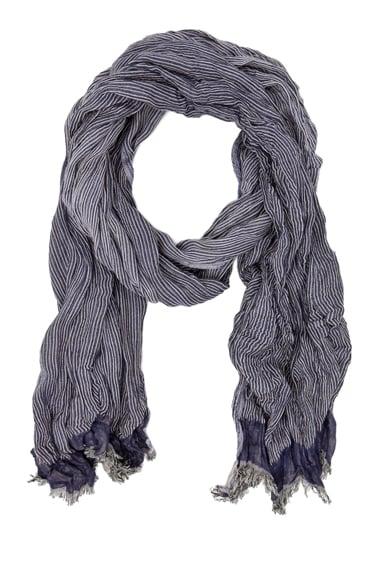 Gauze Striped Jacquard Cotton Scarf