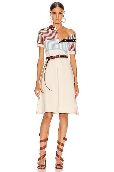 Asymmetric Collar Polo Dress