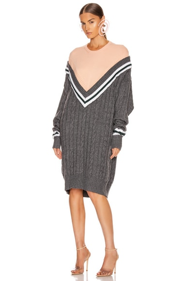 Y/Project V Knit Dress in Grey & Pink | FWRD