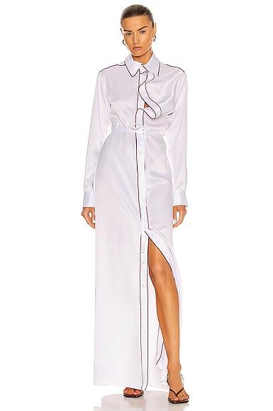 Y/project Clothing ASYMMETRIC COLLAR MAXI SHIRT DRESS