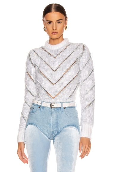 Slashed Mohair Sweater