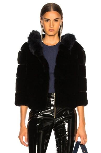 Hooded Fur Jacket