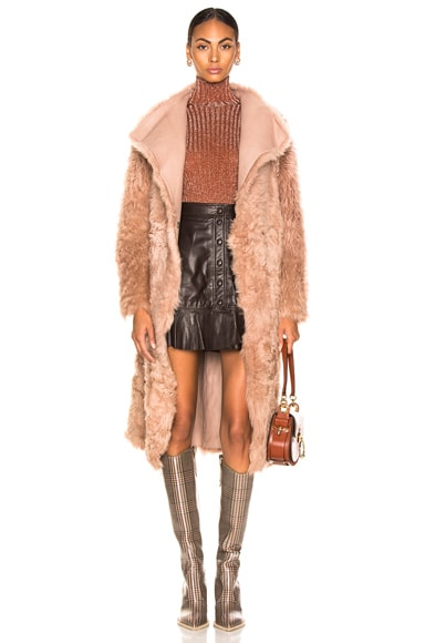Curly Toscana Leather Coat