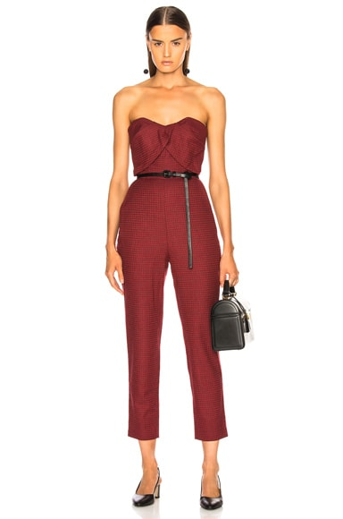 Plaid Wool Jumpsuit
