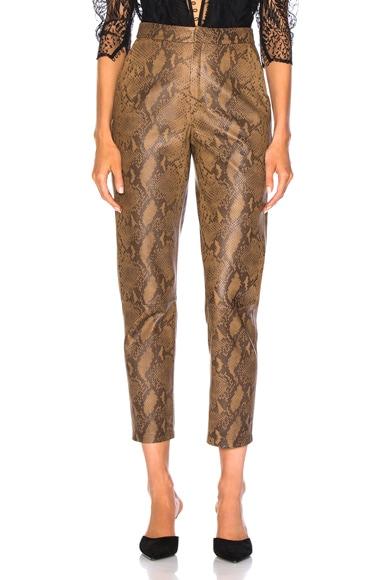 for FWRD High Waist Skin Print Leather Pants