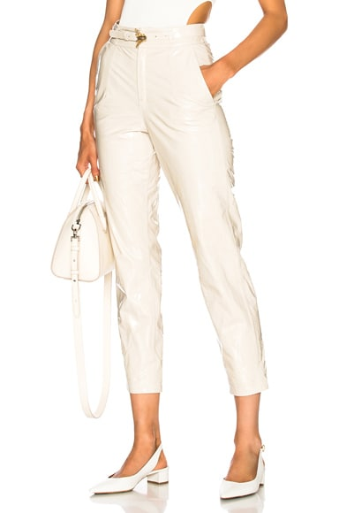 Vince Leather Side Strapping Poly Sweatpant In ブラック Fwrd