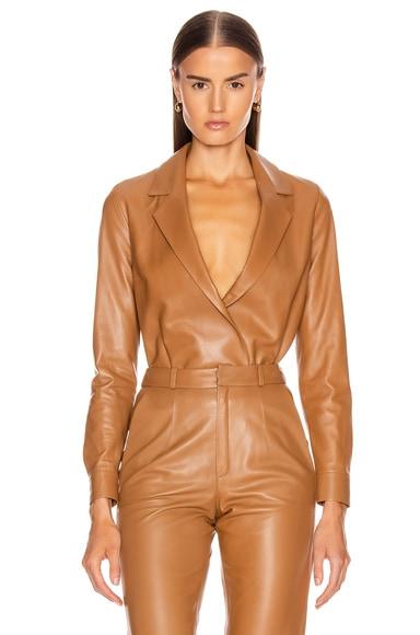 Leather Shirt Bodysuit
