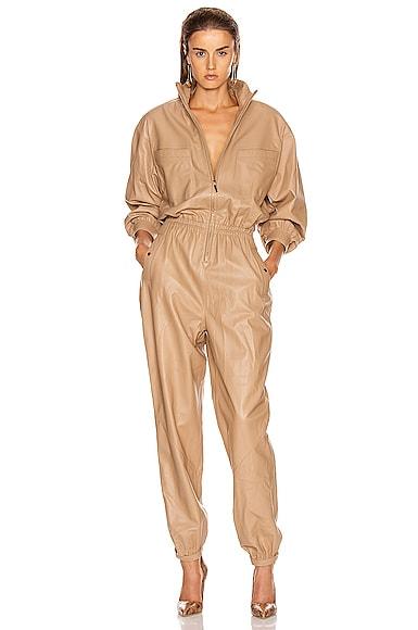 Espionage Leather Boiler Jumpsuit
