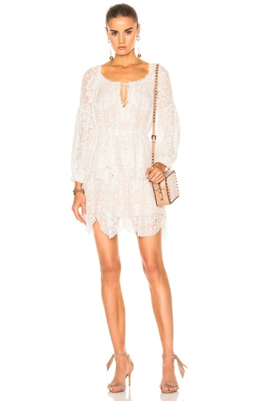 Gossamer Scallop Mini Dress