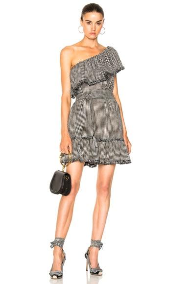 Gingham Frill Dress