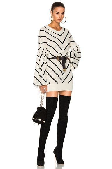 Maples Louche Sweater Mini Dress