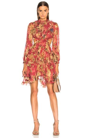Melody Lace Up Short Dress