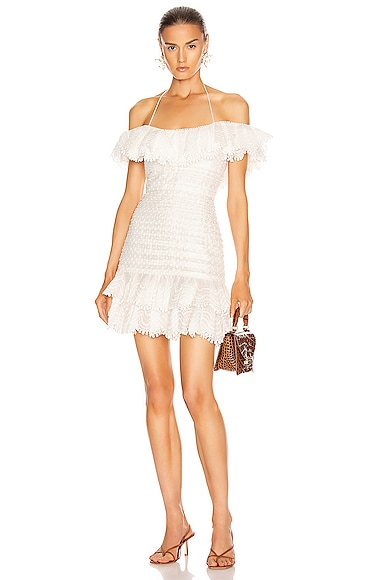 Super Eight Off Shoulder Mini Dress