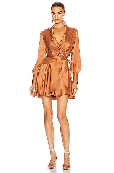 Super Eight Wrap Mini Dress