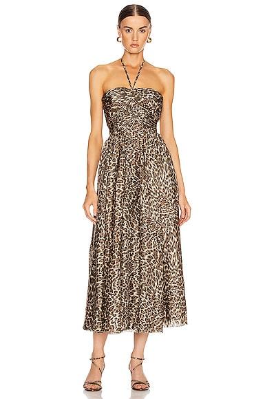 Suraya Ruched Leopard Dress