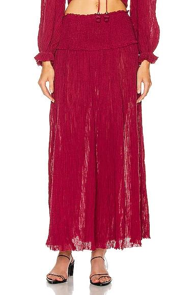 Shirred Waist Skirt