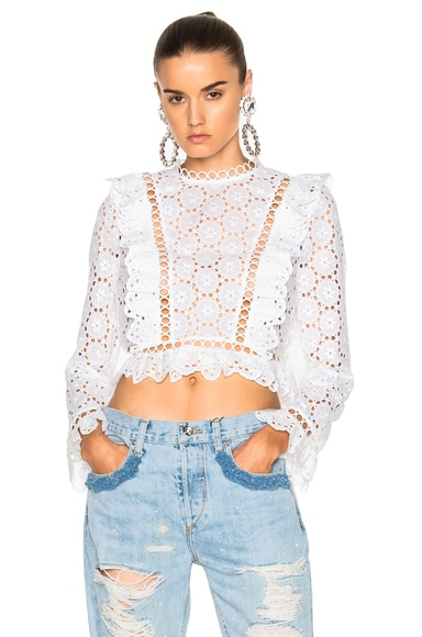 Divinity Wheel Frill Top