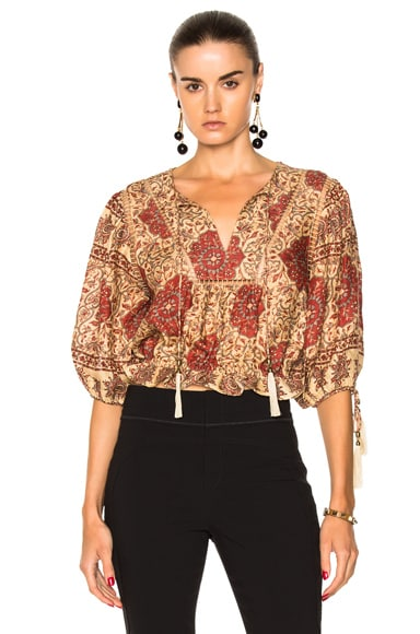 Tulsi Border Day Top