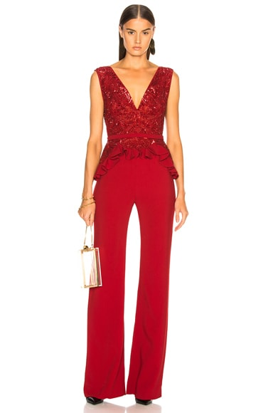 Embroidered Lace Top Jumpsuit