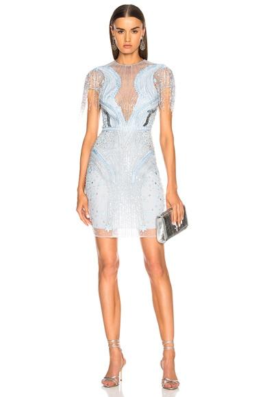 Embellished Short Sleeve Mini Dress