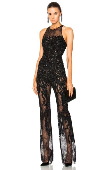 Embellished Lace Sleeveless Jumpsuit