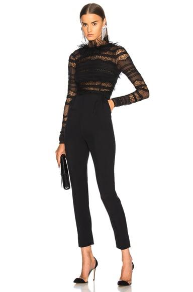 Lace Low Back Jumpsuit