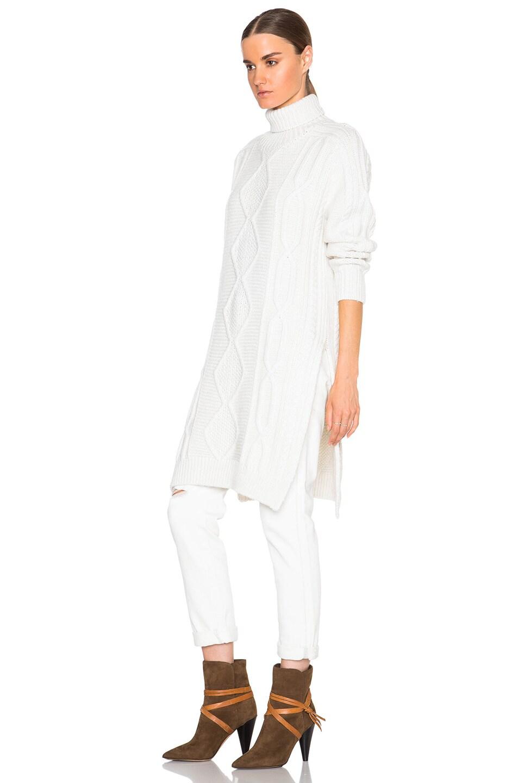 Derek Lam 10 Crosby Turtleneck Sweater Dress In Cream Melange Fwrd
