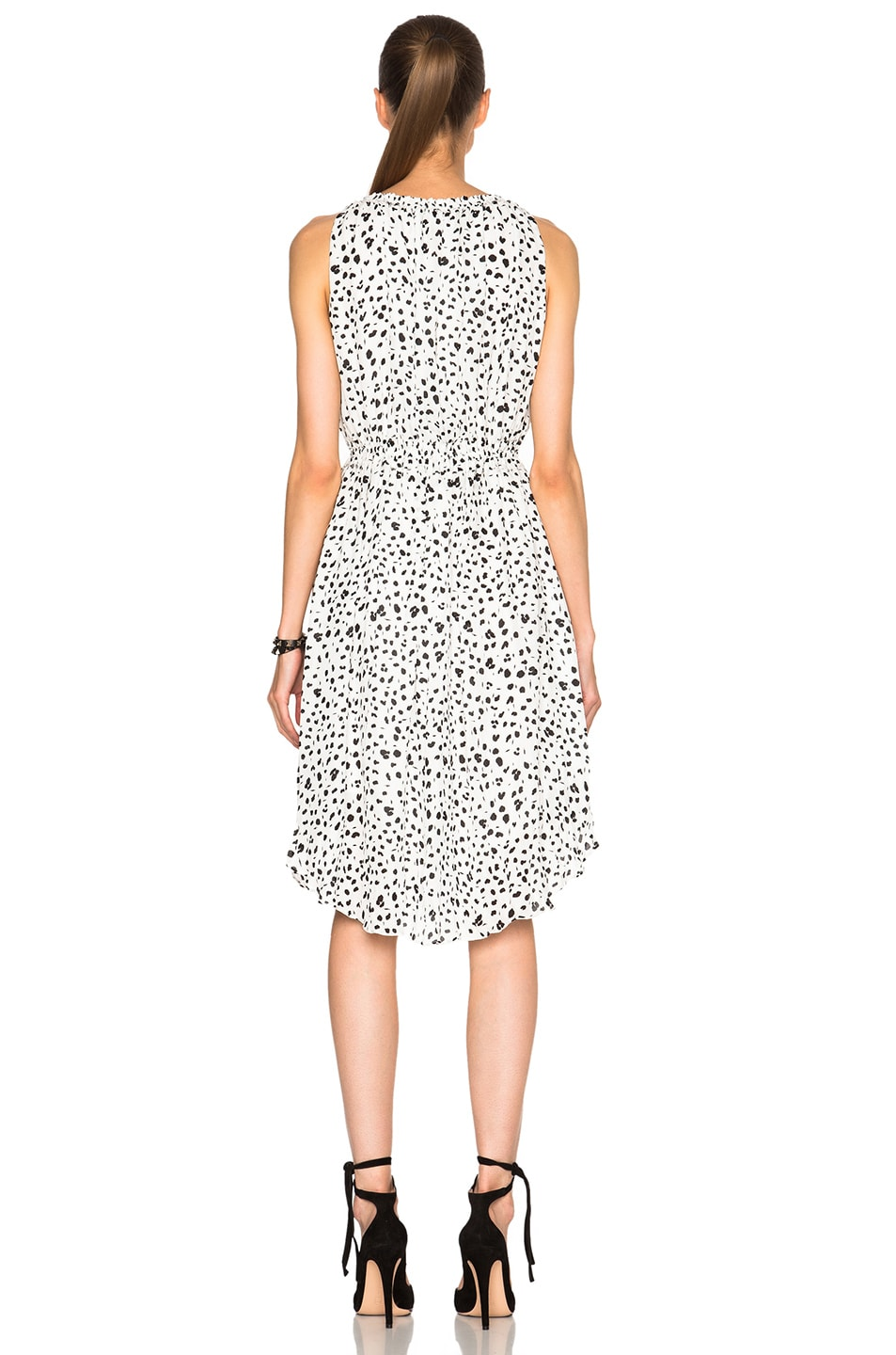 Image 4 of DEREK LAM 10 CROSBY Gathered Dress in White & Black