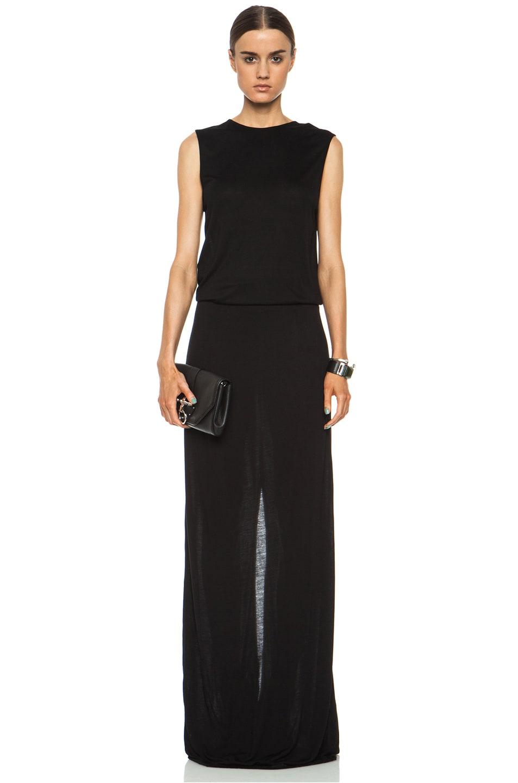 Image 1 of DEREK LAM 10 CROSBY Knot Back Viscose Dress in Black