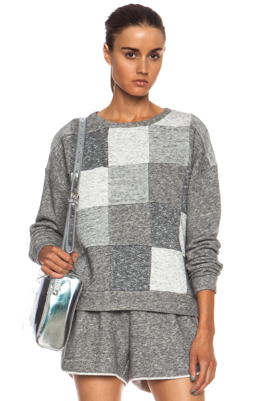 Image 1 of DEREK LAM 10 CROSBY Cotton-Blend Sweatshirt in Grey Combo