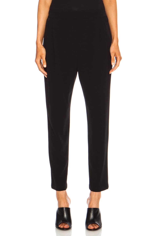 Image 1 of DEREK LAM 10 CROSBY Track Pant Triacetate-Blend Trouser in Black