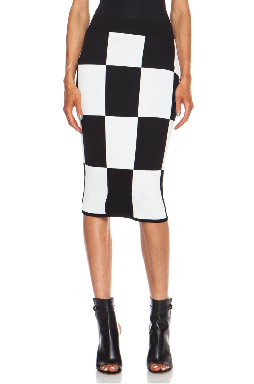 Image 1 of DEREK LAM 10 CROSBY Pencil Viscose-Blend Skirt in Black
