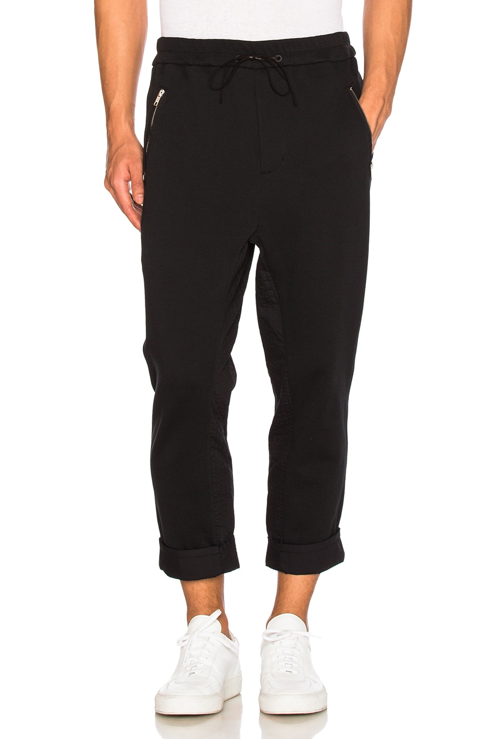 727a64f644a2 Image 1 of 3.1 phillip lim Cropped Sweatpants in Soft Black