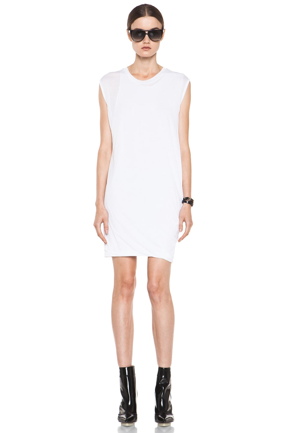 Image 1 of 3.1 phillip lim Distressed Double Layered Dress in Optic White