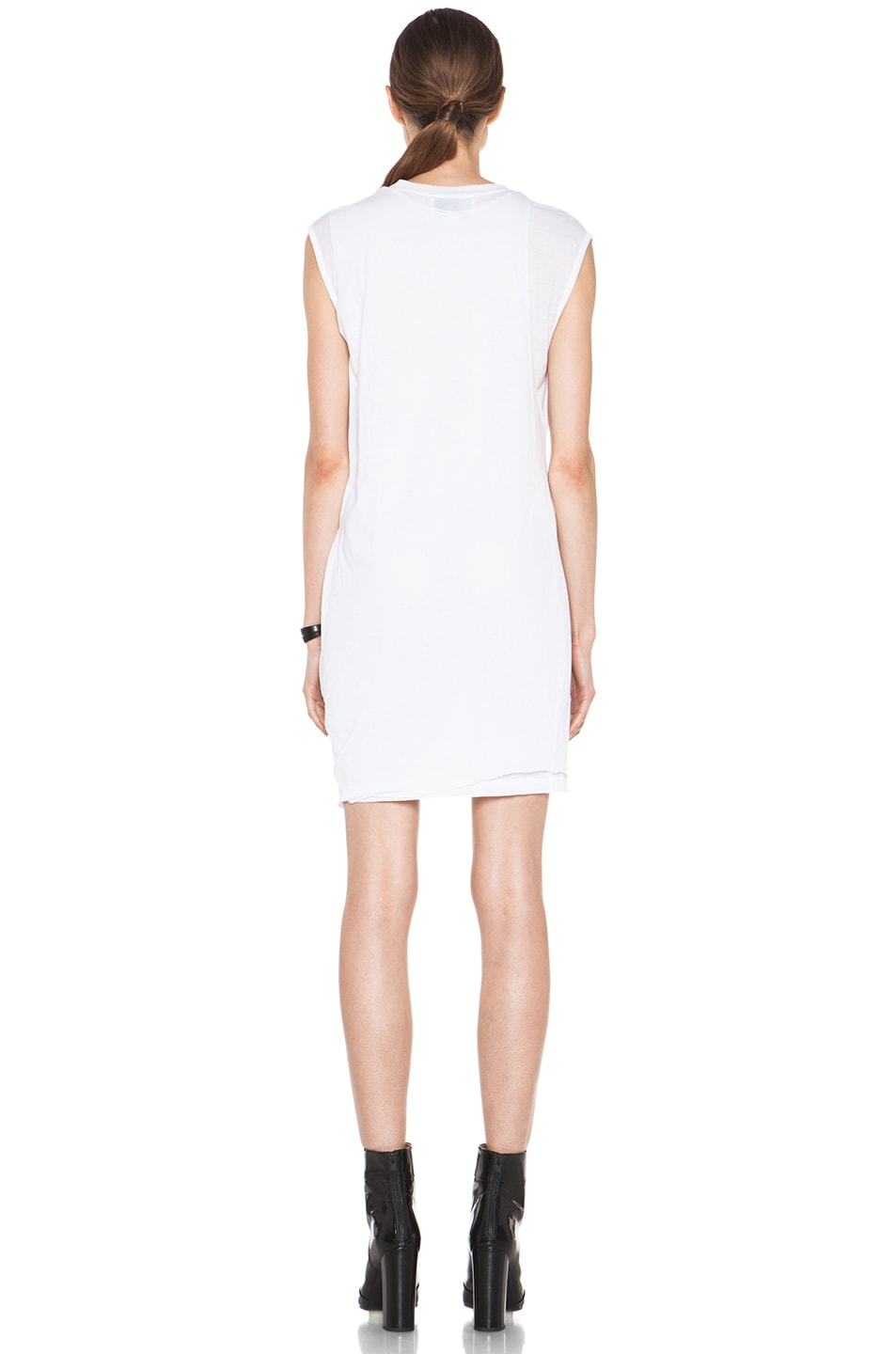 Image 4 of 3.1 phillip lim Distressed Double Layered Dress in Optic White