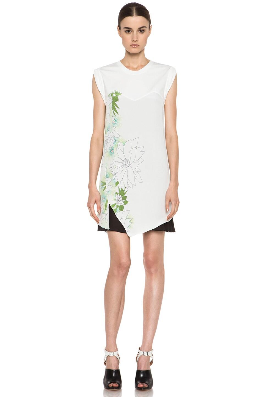 Image 1 of 3.1 phillip lim Tromploeil Silk-Blend Layered Tee Dress