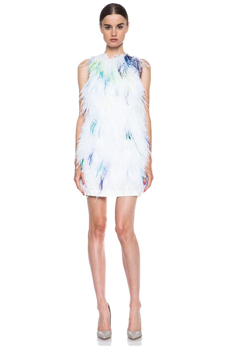 Image 1 of 3.1 phillip lim Plume Acetate-Blend Shift Dress in Ivory