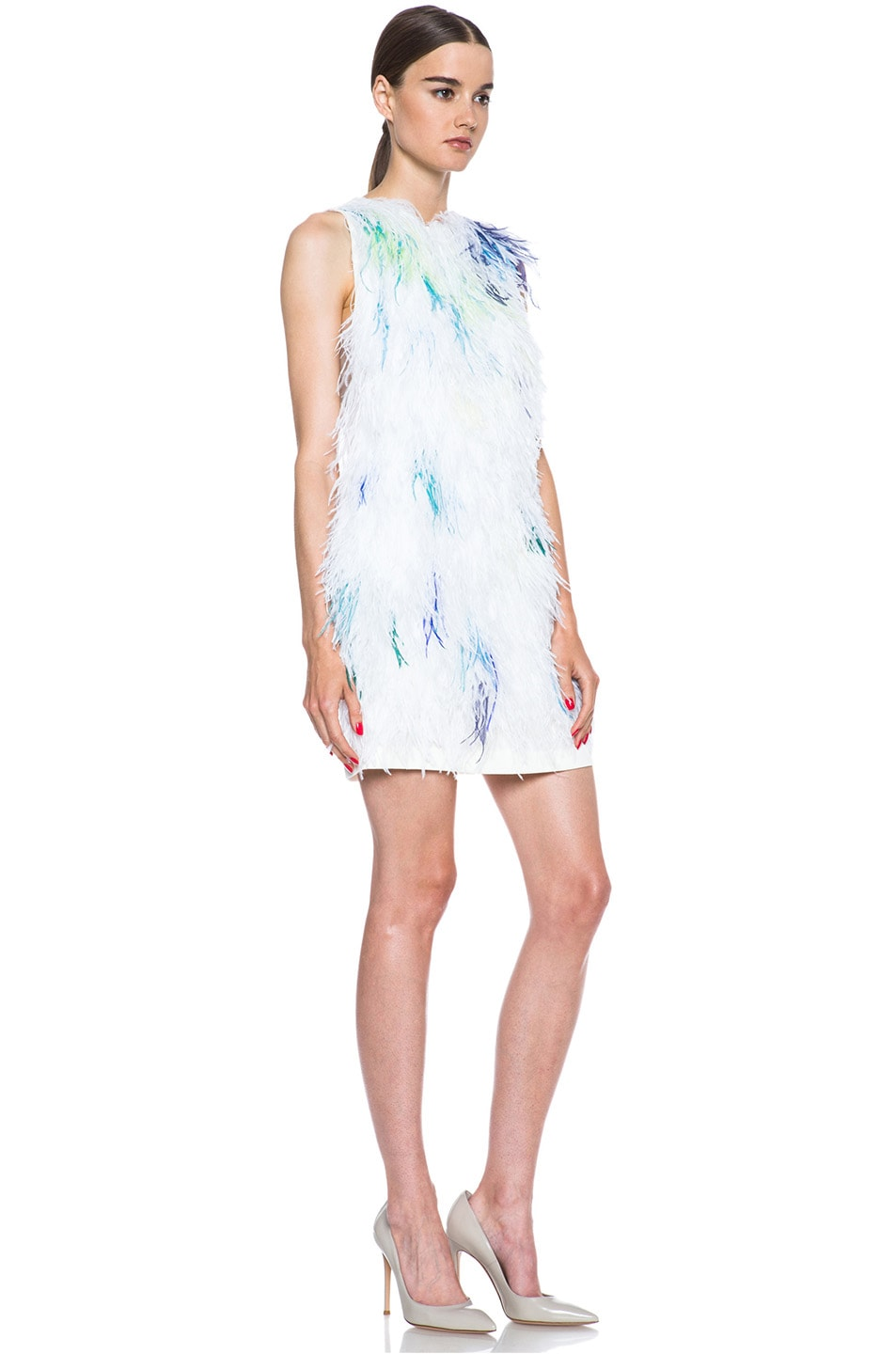 Image 3 of 3.1 phillip lim Plume Acetate-Blend Shift Dress in Ivory